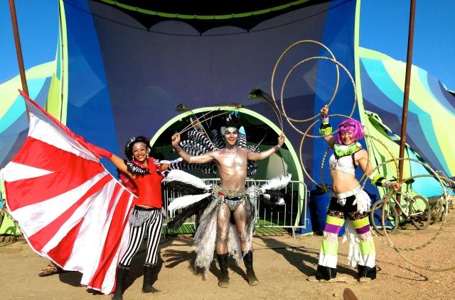 performance costume and multi hoop mitra hoop